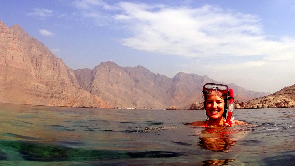 swimming and snorkeling in musandam fjords