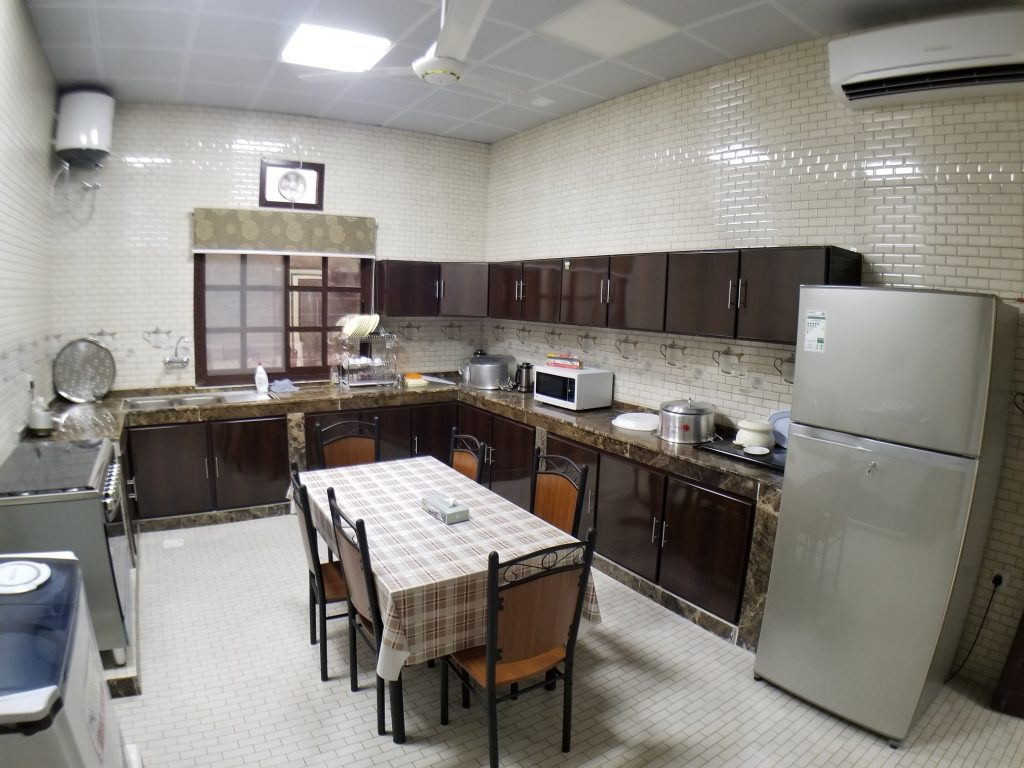 kitchen facility in farm house villa