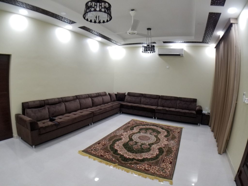 living room in farm house villa
